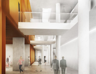 Visualisierung Innenarchitektur Bürogebäude 01