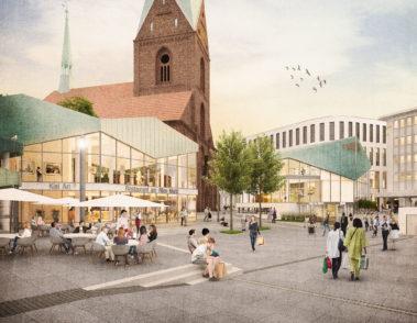 Alter Markt Kiel - 3D Visualisierung - Platz - Pavillons - Erhalt