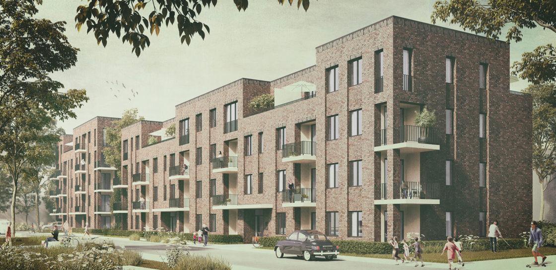 Buchholzer Grün Hannover - cityförster - Visualisierung Geschosswohnungsbau