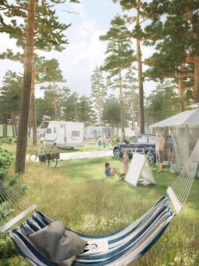 3D-Visualisierung - Freiraum - Außenanlagen - Camping