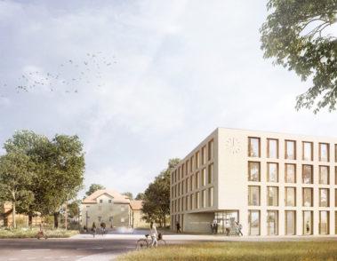 Rathaus Springe - pape+pape architekten - chora blau Landschaftsarchitektur - Visualisierung Wettbewerb