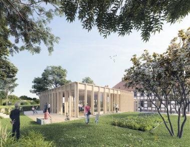 Gemeindehaus Einbeck - pape+pape Architekten - 3D Visualisierung Architektur - Pavillon