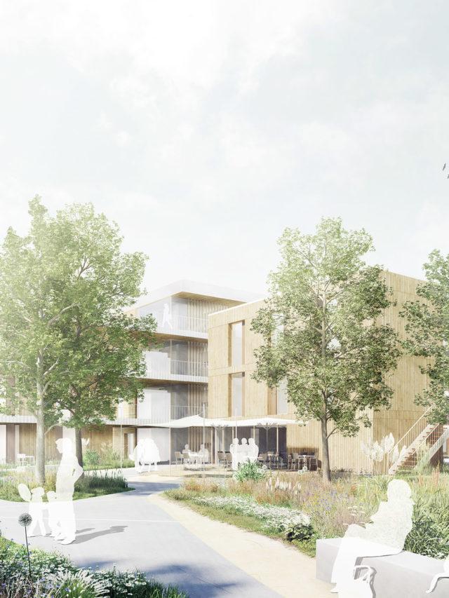 Wohnquartier Herzkamp - Wettbewerbsbeitrag cityförster u.a. - Perspektive Innenhof