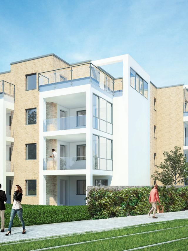 Mehrfamilienhaus - Am Nordfeld - WBK - Visualisierung - Architektur