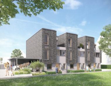 Am Andreashof - Vinnhorst - WBK Hannover - 3D Visualisierung Architektur - Mehrfamilienhaus - Eingangsbereich