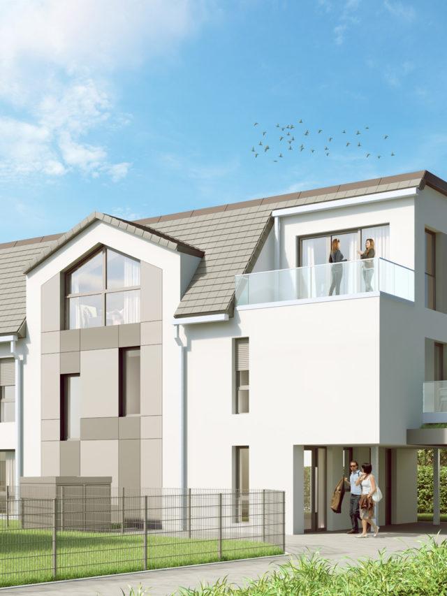 Mehrfamilienhaus Hemmingen - WBK Hannover - Architekturvisualisierung - Immobilienvermarktung