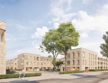 Wohnquartier - Gottfried Benn Weg - Hannover - Agsta - Gundlach - 3D-Visualisierung Architektur