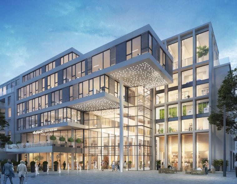 Schlosscarree Braunschweig-Giesler Architekten-Volksbank BraWo-Eingang Schloßplatz