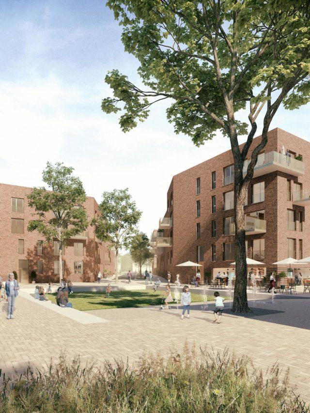 Wohnquartier Lossegrund Kassel - Visualisierung